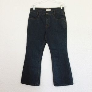 FREE PEOPLE high waist, cropped jeans. Size W28